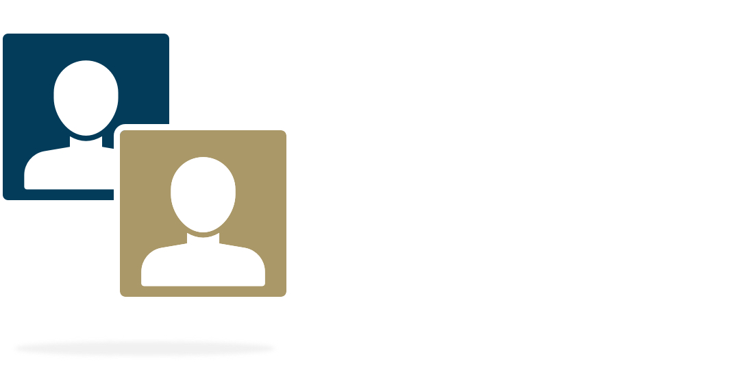 Overlapping illustrations of a generic person silhouette