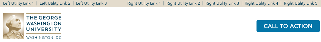 A sample image of utility links across the top of an Editorial site